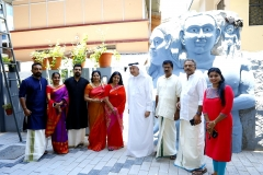 UNVEILED THE SCULPTURE BY GIREESH